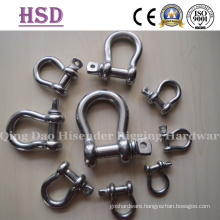 AISI316, Stainless Steel Bow Shackle, Large Dee Shackle, Us Type Forged Shackle