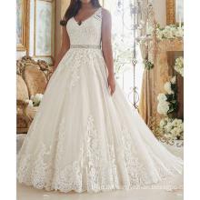 China-Spitze-Hochzeits-Kleid-Brautkleid Guangzhou 2017 Luxuxafrikaner