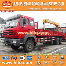 North-Benz 12 tons straight arm 6x4 truck with crane WEICHAI diesel engine WP10.270E32