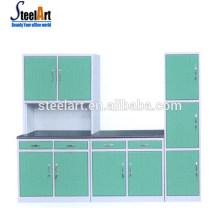 Meilleure vente porte d'armoire de cuisine moderne ghana armoires de cuisine en acier inoxydable armoire de cuisine