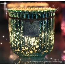 Vela perfumada de cristal com etiqueta Swing de decoração