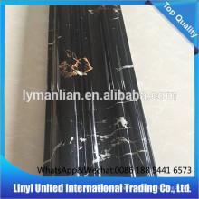 Lignes de marbre artificiel de PVC de décoration intérieure ignifuge
