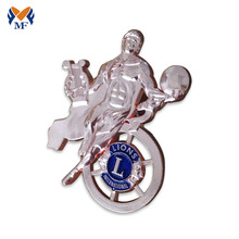 Silver plating personalized metal pin badge