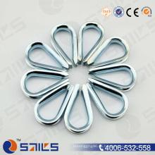 Rigging Hardware Electro galvanizado tipo europeo cuerda de cable dedal