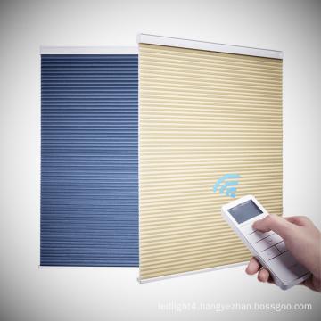 Motorized Light Filtering Honeycomb Cellular Blinds