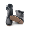 OEM Toddler Shoes Rubber Leather Kids Rain Boots