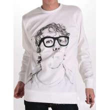 T-shirt imprimé en gros de coton imprimé personnalisé de tête d'hommes
