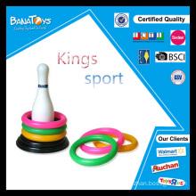 Pino de bowling branco com círculo colorido