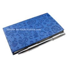 Leather Cover Memo Pad Holder with Pen, Note Pad Holder