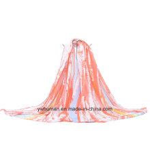 Fashion Contrat Color Bufanda Larga para Señora