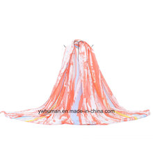 Écharpe longue couleur de contrat de mode pour Lady