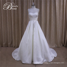 Деликатный неофициальных сексуальный короткое Микадо свадебное платье