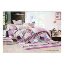 100 algodão 40s 128 * 68 luxo de impressão de pigmento de alta qualidade suave roupa de cama de linho 100% puro