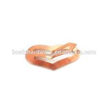 Fashion High Quality Metal Snap Heart Hair Clip