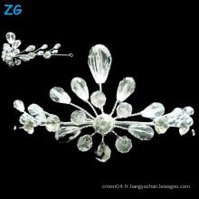Yiwu Zhanggong cristal vente en gros bouquet de beauté nuptiale en utilisant la couronne de mariée