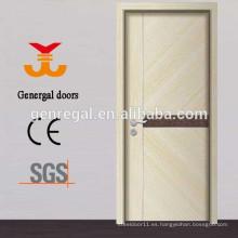 Las puertas con revestimiento interior de melamina al ras del HDF interior