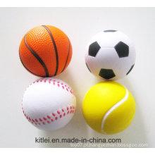 Bola de estresse personalizada de promoção, impressão de logotipo Bola de estresse PU, Wholesales Anti Stress Foam Ball