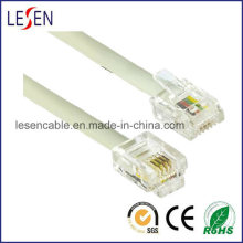 Rj11 Telephone Cable with PVC/PE Jacket