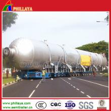 Remorque lourde de réservoir de transport d'équipement lourd d'axes multiples