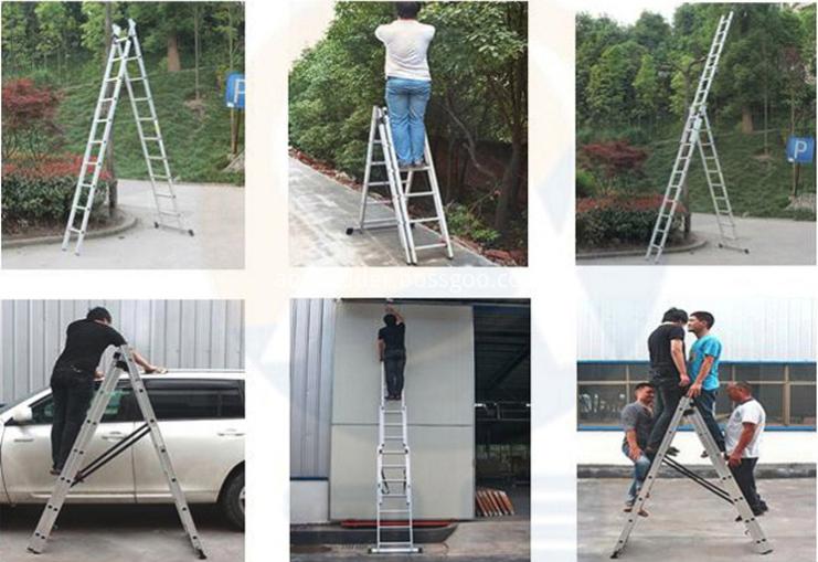 Double side fiberglass ladder