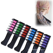 Temporary Hair Chalk Warna Merah Muda Ungu Coklat Sisir