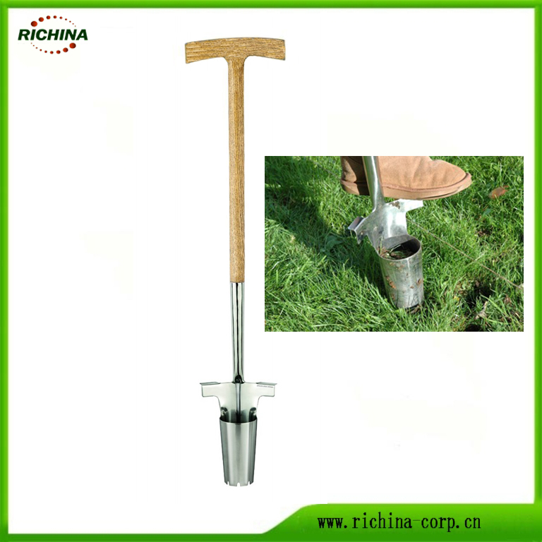 long wood handle bulb planter