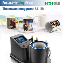 FreeSub automático pneumático Mug Press Machine