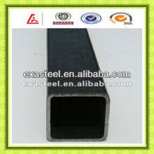Tubería de acero de construcción cuadrada negra