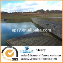 1.5mX1mX0.5m galvanized Gabion Galfan 3mm stone basket lake and resevoir created using welded gabion box