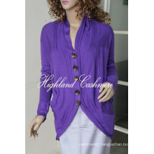 Ladies′ V Neck Fashion Cardigan Cspc1102L