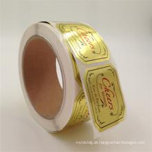 Günstigen Preis Benutzerdefinierte Marke Logo / Barcode Farben Adhesive Druck Label Aufkleber