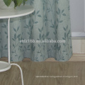 New arrival high taste small leaf design 100% Polyester Linen Like Jacquard Window Curtain