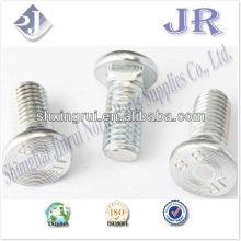 Chaleur plate avec col carré BOLT Grade 8.8 zinc TS16949 ISO9001