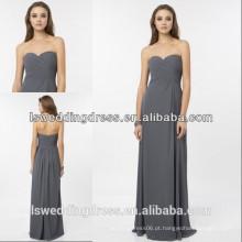 HC2231 Trompete sem alças sem moldura simples com cintura alta com cinto alto A linha de comprimento longo vestido de noite com chiffon cinza