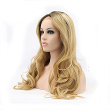 hot sale facotry price good quality heat resistant synthetic lace front wig