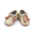 Latest Style Genuine Leather Baby Shoes with Fringe