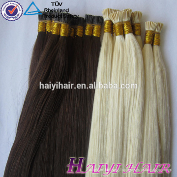 Hot Selling Last 12 Months Full Cuticle Double Drawn European keratin protein bond hair extension