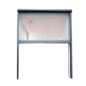 Aluminum Retractable Rolling Up Fiberglass Screen Window