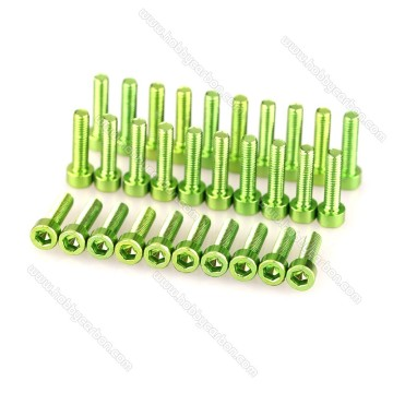 M3*12mm Socket Colored Aluminum Screw