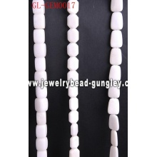 Natural white stone bead