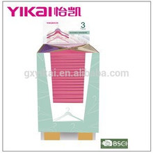 Supper market promotional colorful wooden clothes hanger