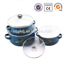 3 piezas Cazuela de cristal pyrex Cazuela de esmaltes