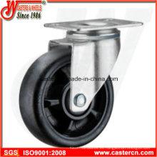 Rueda giratoria de nylon de 5 pulgadas con rueda de alta temperatura