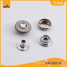 Rhinestone Press Snap Button Botón de encargo del broche de presión de metal BM10801