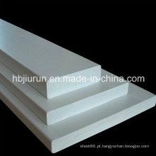 Placa rígida de PVC cinza com resistente a produtos químicos