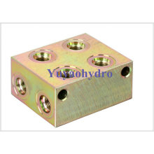 Rectangle Junction Block for Oil Pipe Hydraulic Flanges