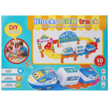 Plastic Cartoon Eduction Toy Train Electric Blocks Vehicle Toy