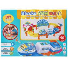 Пластиковый мультфильм Eduction игрушка поезд электрические блоки автомобиля игрушки