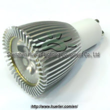 3x2w 6w LED GU10 lumière lumineuse réglable