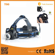 400lm CREE Xm-L T6 Telescopic Zoom Headlamp (POPPAS-T90)